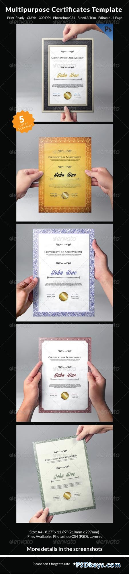 Multipurpose Certificates Template 7251806