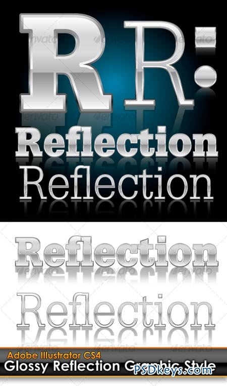 Glossy Reflection Illustrator Graphic Style 98624