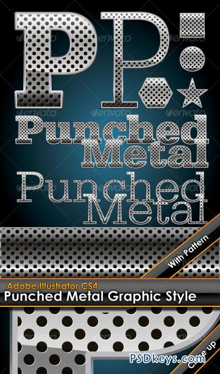Hole Punched Metal Graphic Style plus bonus patter 96631
