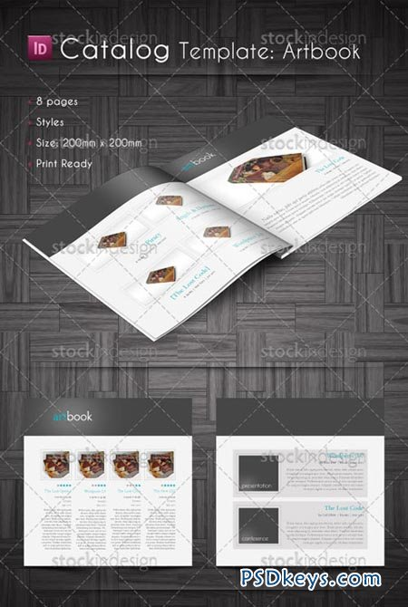 InDesign Catalog Template - Artbook » Free Download Photoshop ...