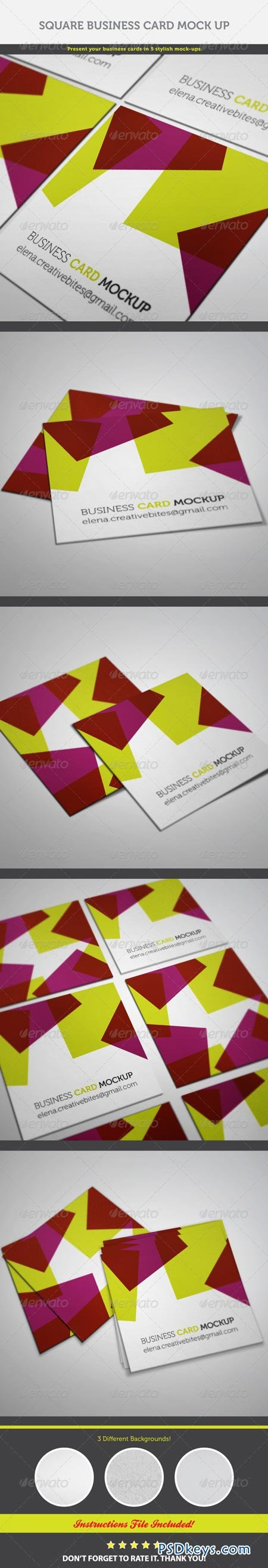 Square Business Card Mock-up 6924924