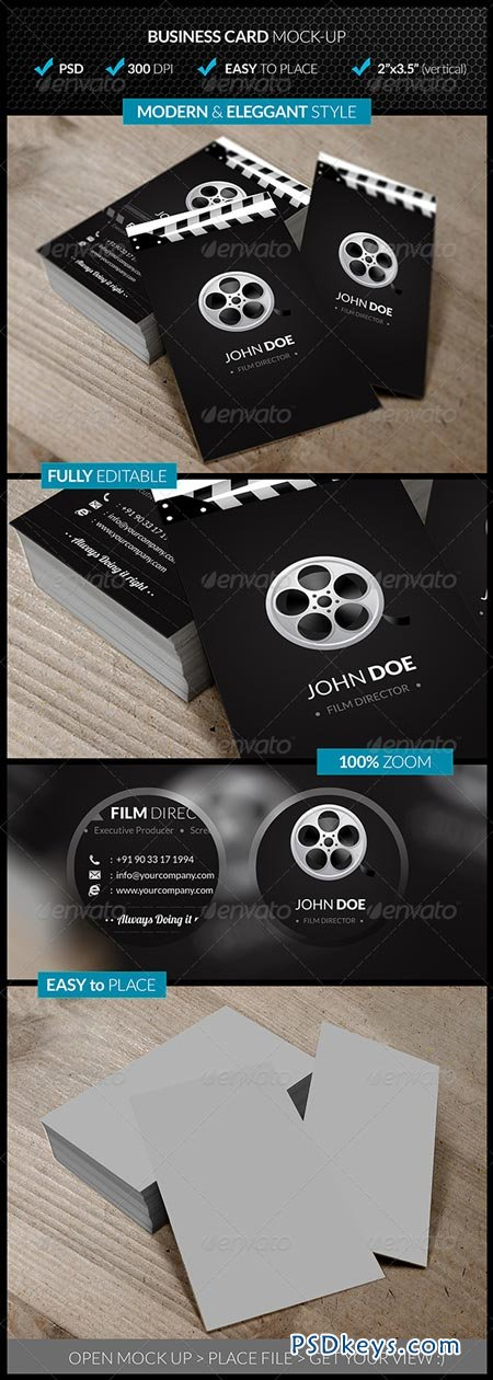 Verticle Business Card Mock-Up 4545040
