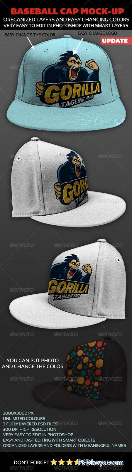 Baseball Cap Mock-up 4564637