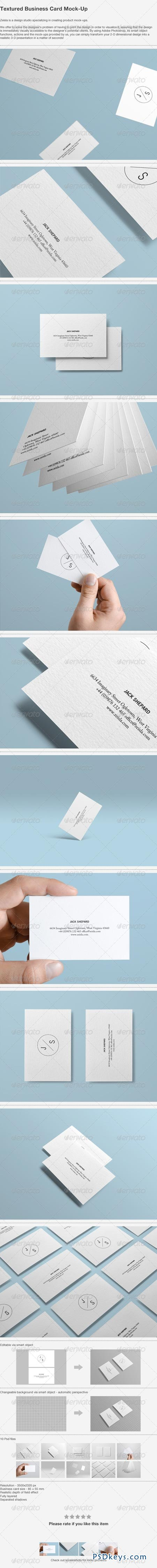 Textured Business Card Mock-up 4481265