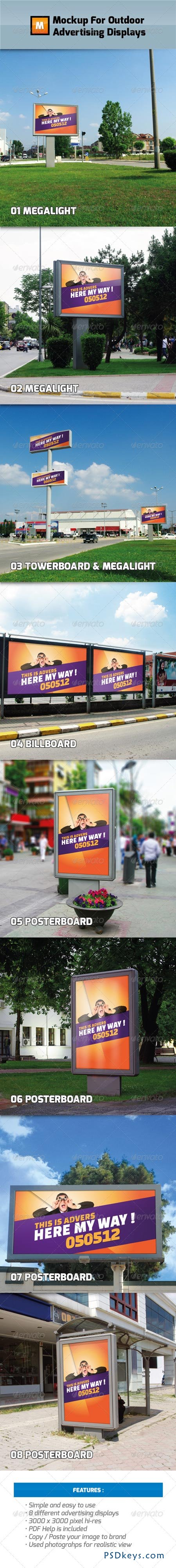 Mockup For Outdoor Advertising Displays 2458879