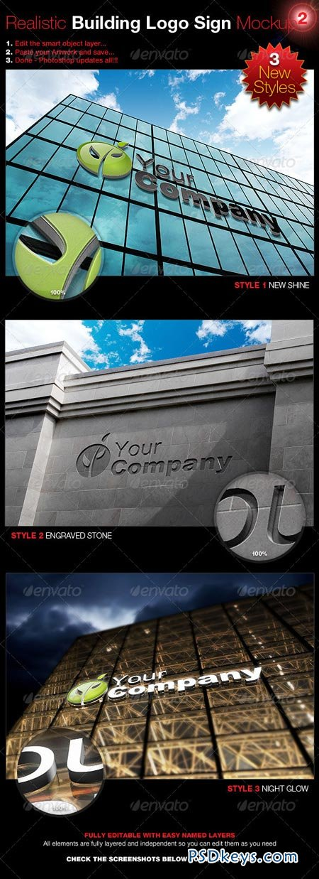 Realistic Building Logo Sign Mock-Up 2 3098375