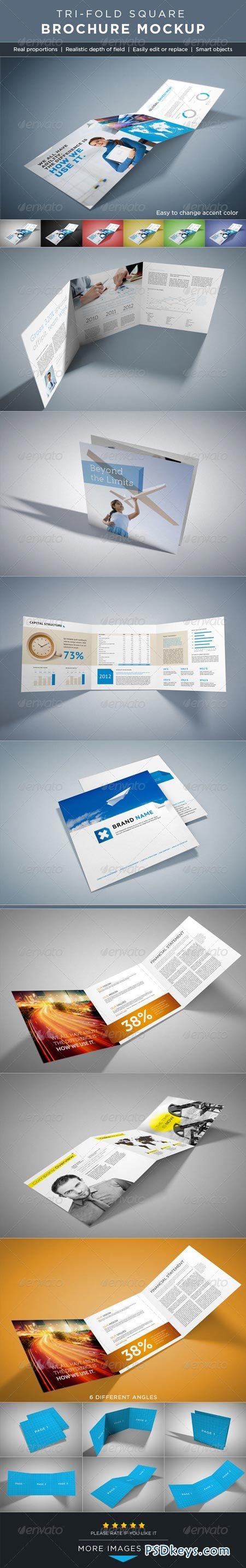 brochure mockup template - square tri fold brochure mock ups 2647523 free download