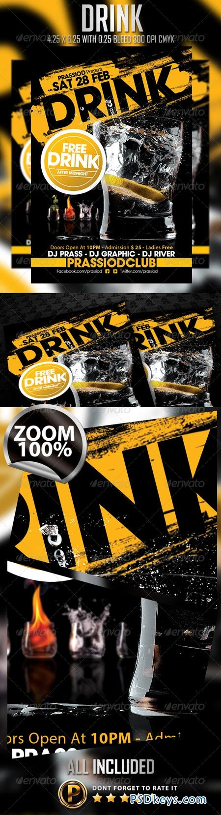 Drink Flyer Template 6963572