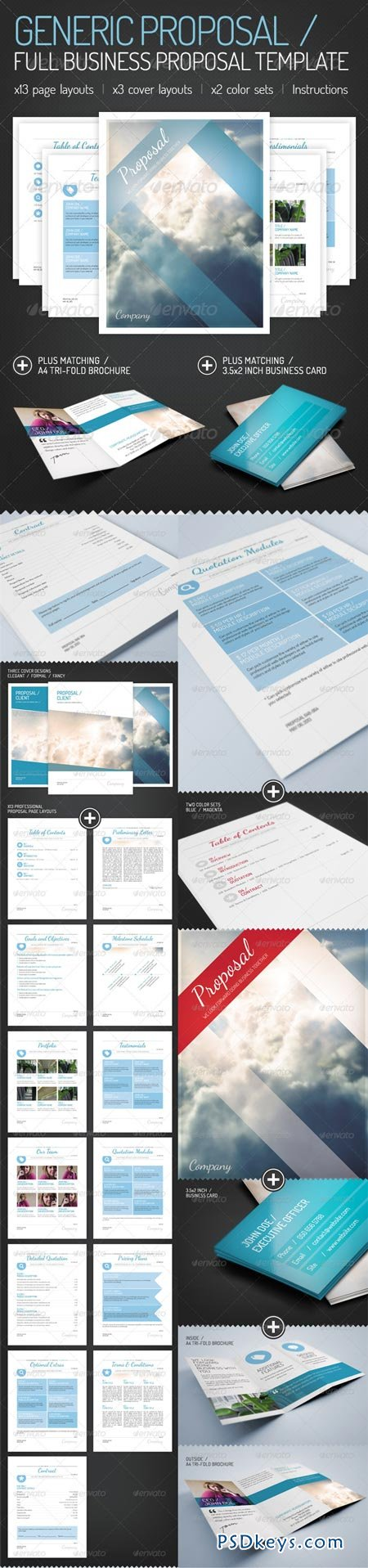Generic Proposal   Full Business Proposal Template 2721064  Download Business Proposal Template