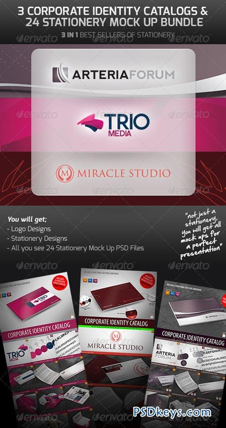Corporate Identity & Mock Up Bundle 2617502