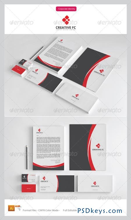 Creative FC Corporate Identity Package 3538413