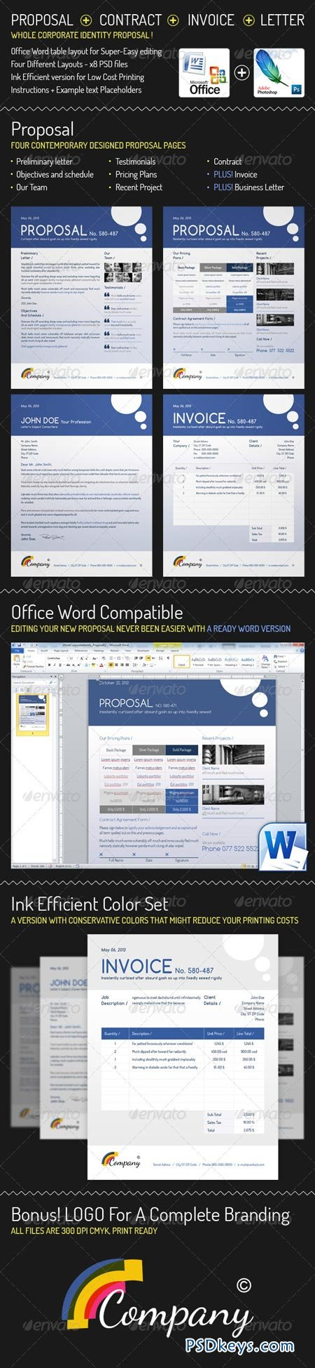 Whole Corporate Identity Proposal+ Invoice+ Letter 3278690