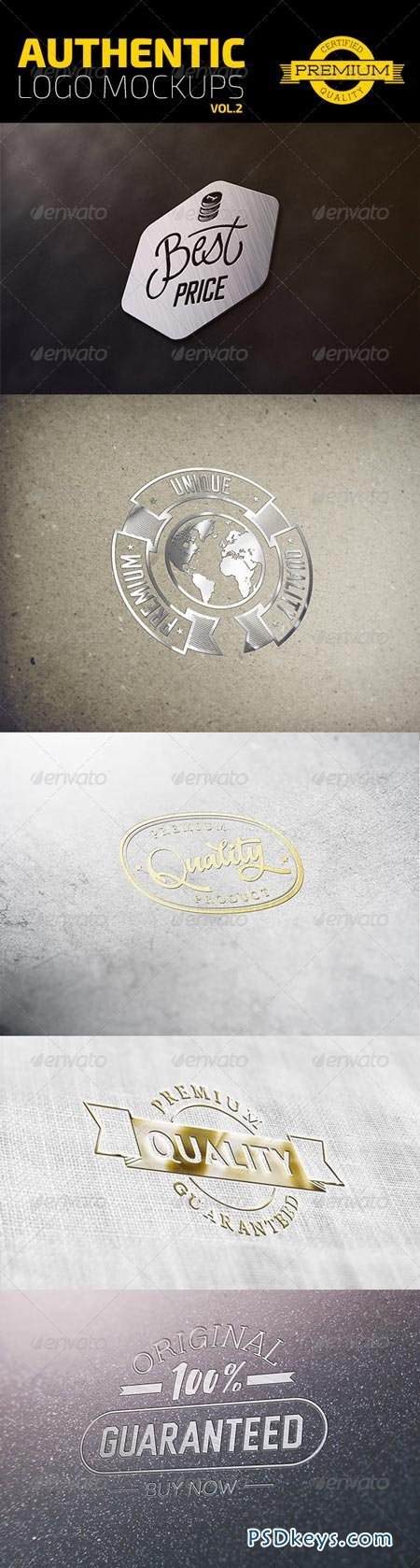 Authentic Logo Mockups Vol. 2 6903276