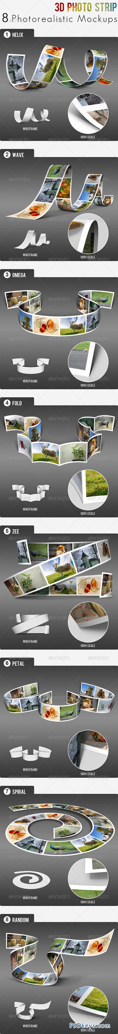 3D Photo Strip - Photorealistic Mockups 3354952