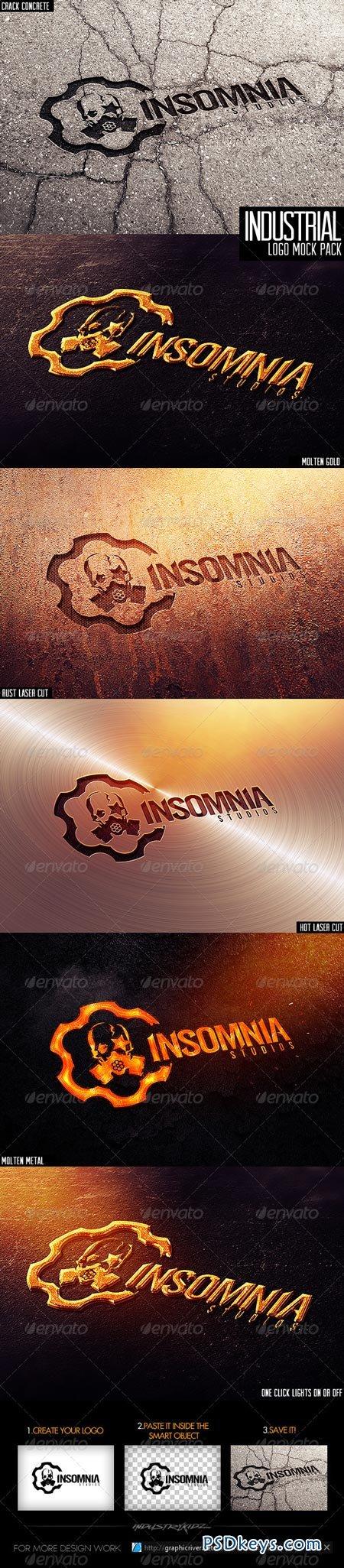 Industrial Photorealistic Logo Mock-Up 3726032