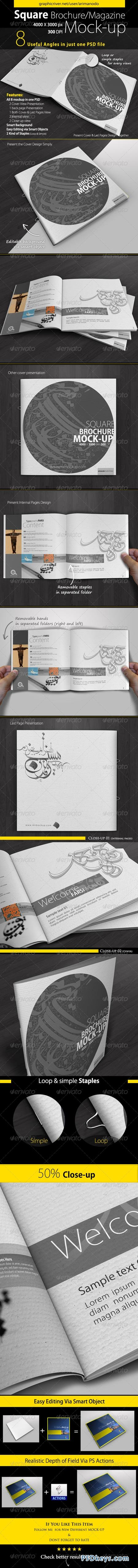 Square Brochure Mock-Up 5109689