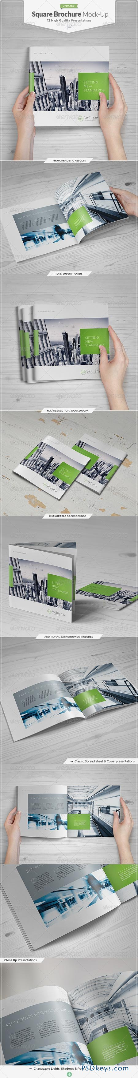 Square Brochure Catalog Mock-Up Set 4476060