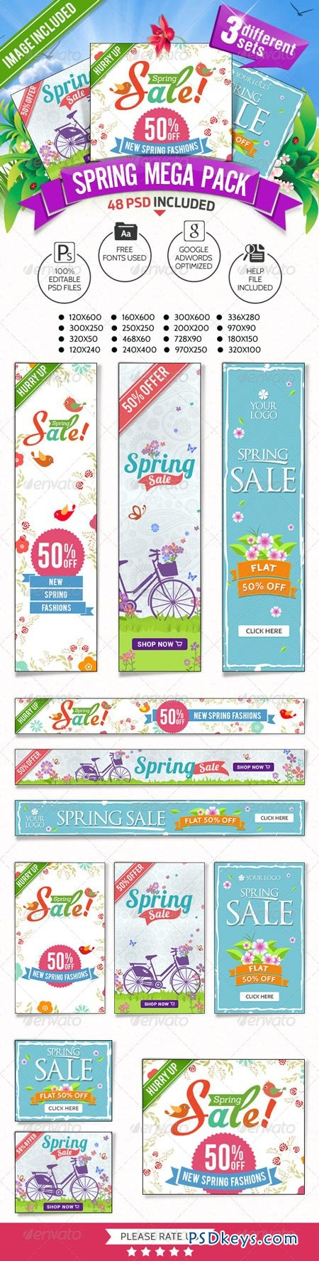 Spring Sale Mega Pack - 3 Banner Sets 7450266