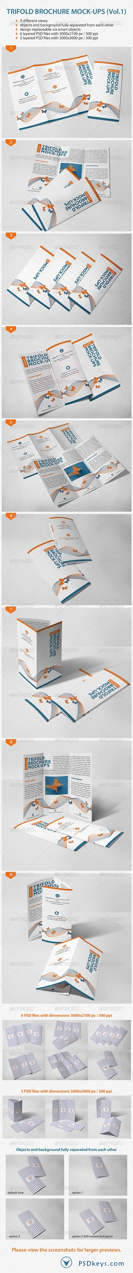 Trifold Brochure Mock-Ups (Vol.1) 7212256