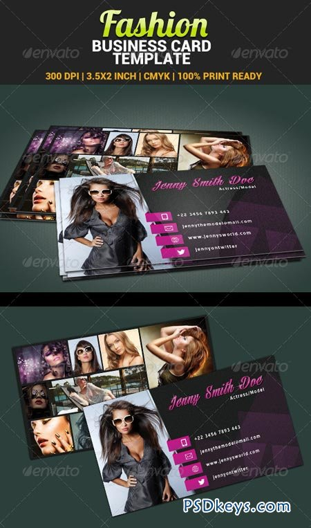 fashion model actress business card template 4805733 a free