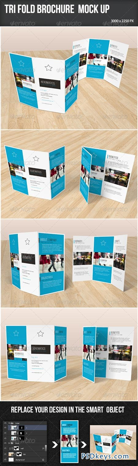 Trifold Brochure Mock-up 7201822[
