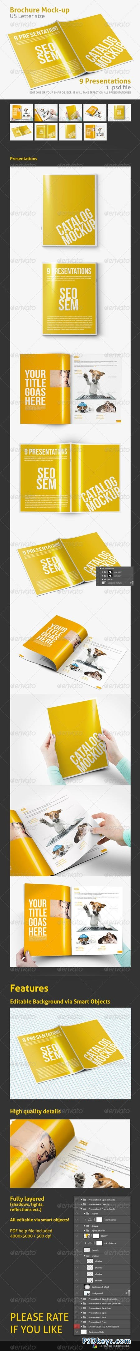 US Letter Brochure Folder Mock-up 4224267