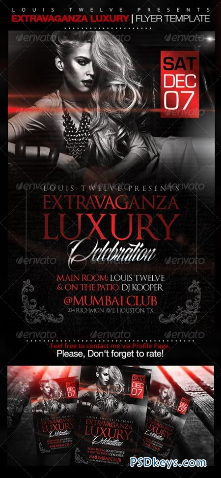 Extravaganza Luxury Party Flyer Template   Free Download