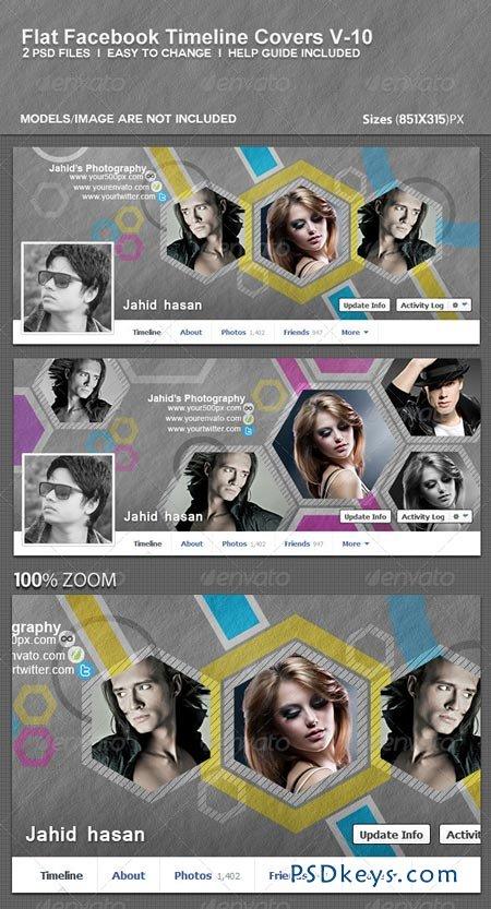 Flat Facebook Timeline Covers V-10 5743989