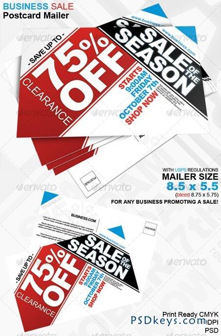 Business Sale Postcard Mailer 8.5 x 5.5 81200