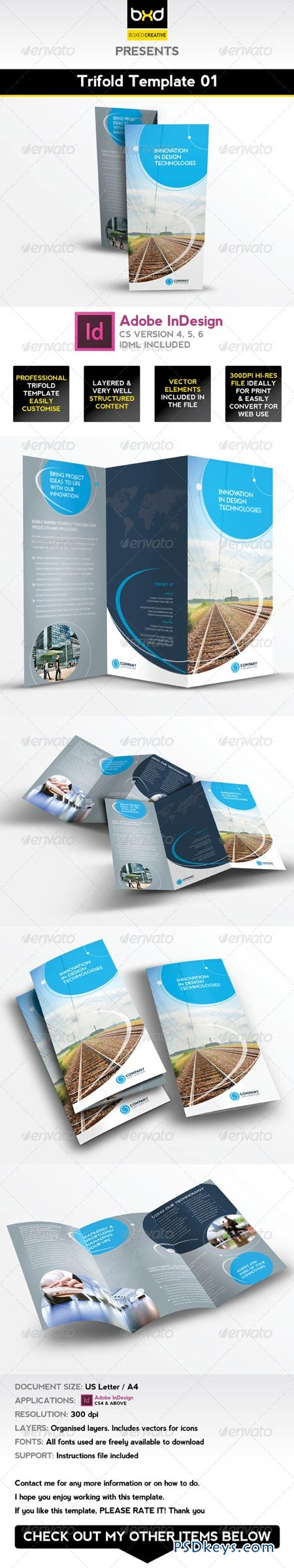 Trifold Brochure Template InDesign Layout Free - Free indesign tri fold brochure templates