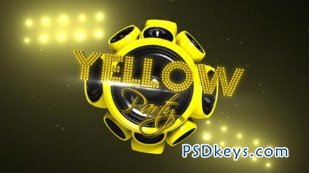 Yellow Party - After Effects Project