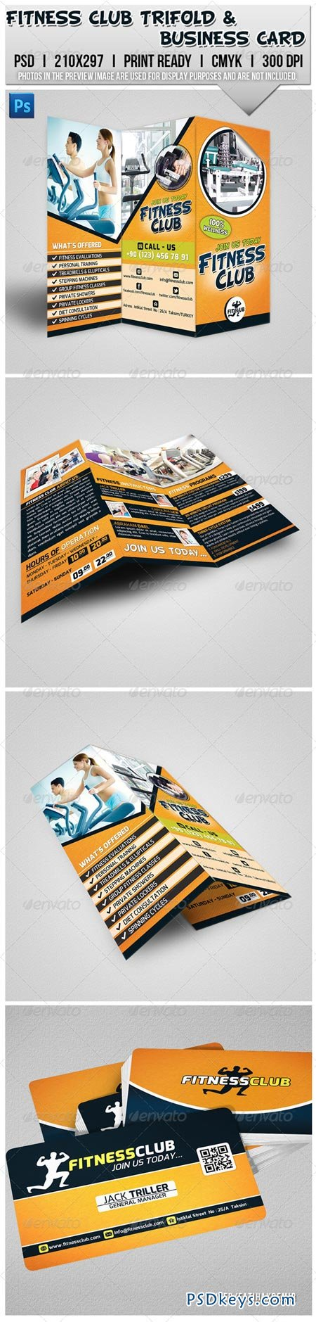 Fitness Club Trifold Brochure & Business Card 6925250