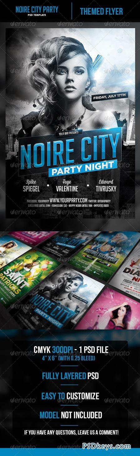 Noire City Party Flyer Template 6913876