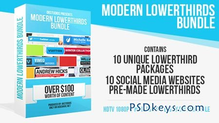 Modern Lower Thirds Bundle (10 in 1) - After Effects Projects