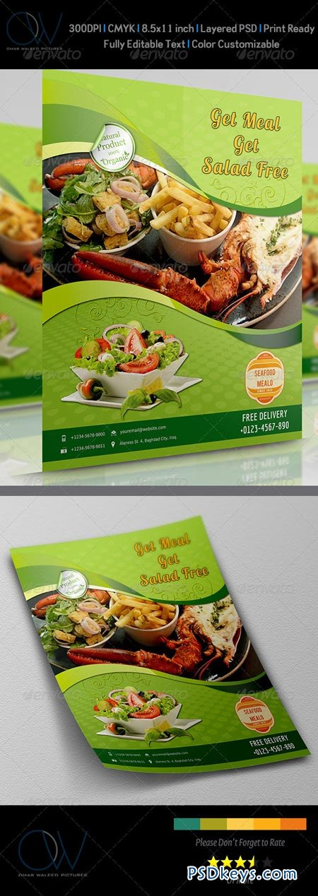 Sea Food Flyer 3639229