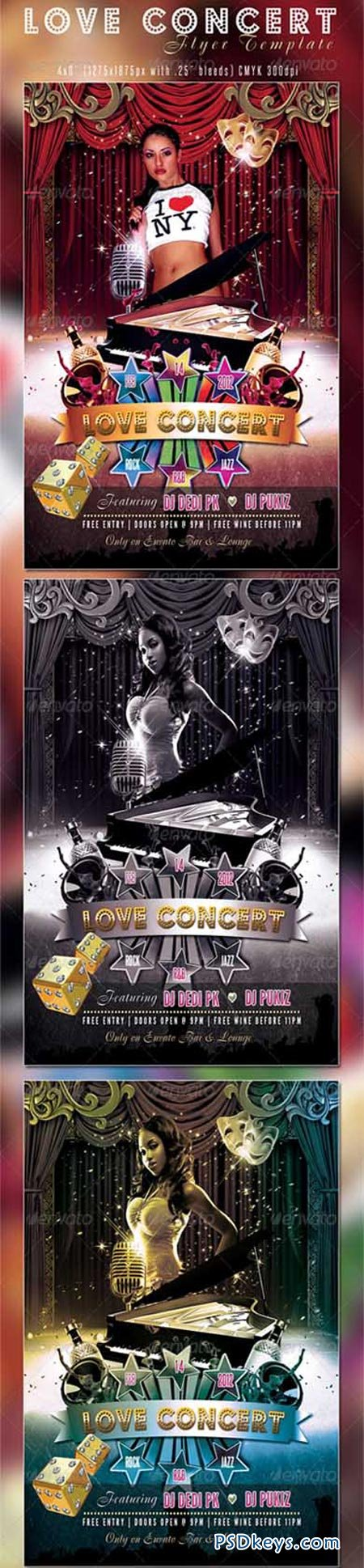 Love Concert Flyer Template 1213911