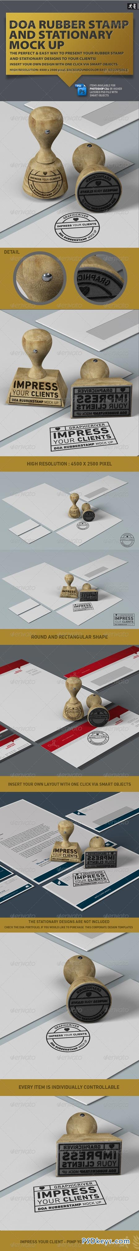 DOA Rubber Stamp and Stationary Mock Up 2479867
