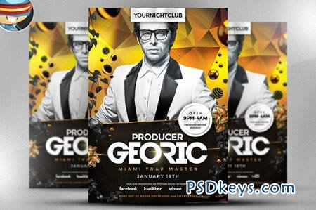 Georic PSD Flyer Template 36941