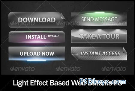 Light Effect Based Web Buttons #3 105896