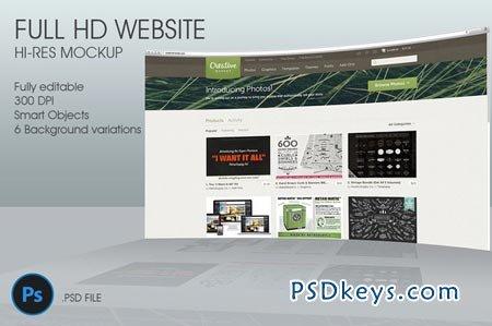 Creativemarket FullHD Website 3D mockup 34696