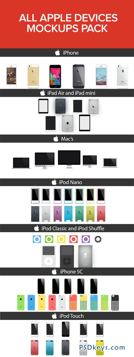 All Apple Devices Mockups Pack 31300