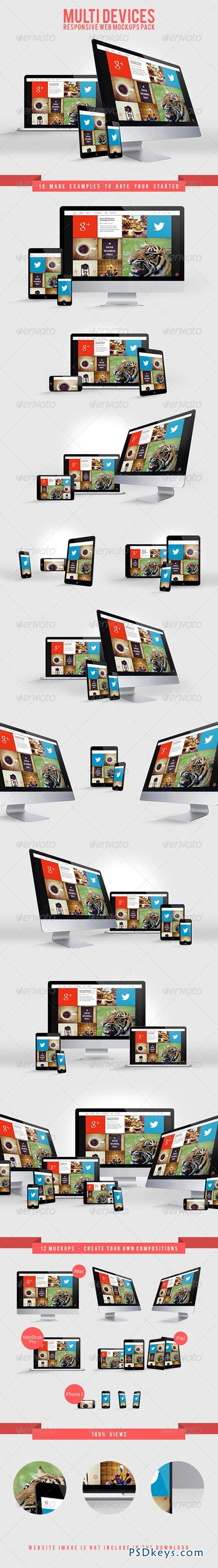 Multi Devices Responsive Web Mockups Pack 7258281