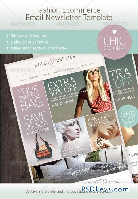 Fashion Ecommerce Email Newsletter Template 2627274