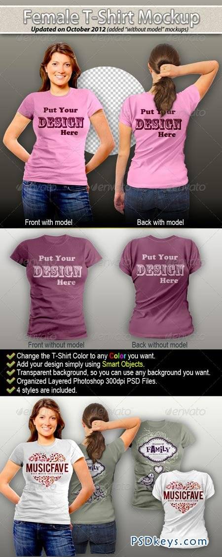 Female T-Shirt Mock-Up 2415068