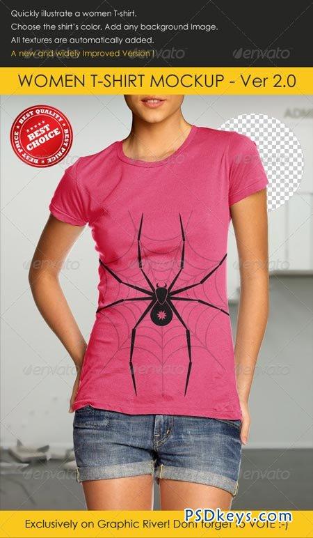 Women t shirt mock up 157269 free download photoshop for T shirt mock ups