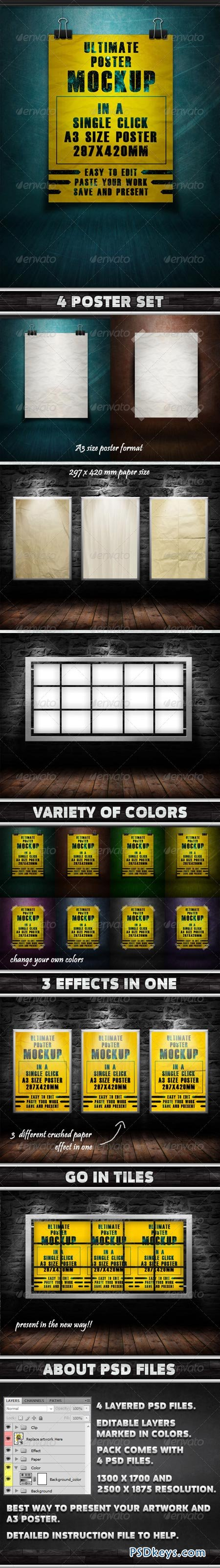 Ultimate Poster Mockup Pack -1 1332986