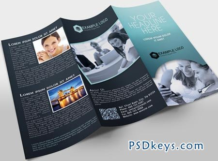 Tri-Fold Brochure Template 14741