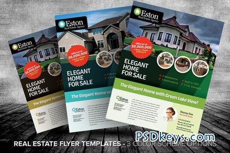 Real Estate Flyer Templates Free Download Photoshop Vector - Real estate brochure template free download