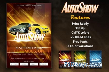 Autoshow Flyer Template 983 Free Download Photoshop Vector Stock