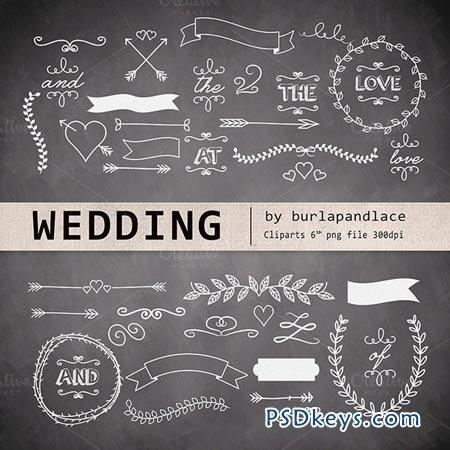 Chalkboard wedding cliparts 24677 » Free Download Photoshop Vector ...